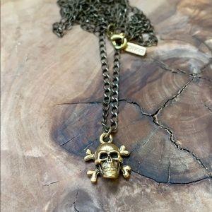 Anthropologie Biko skeleton long necklace NWOT